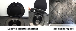 lunette toilette abattant sol anti derapant